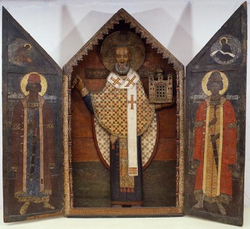 Святой Николай Можайский, с благоверными князьями Борисом и Глебом