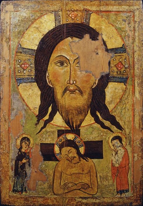 Спас Нерукотворный, Христос во гробе (Не рыдай Мене, Мати…)