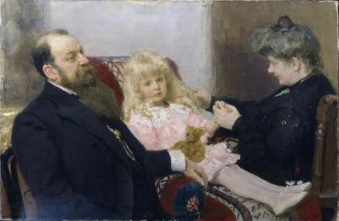 Репин И.Е. (1844—1930). Семейный портрет Деларовых. 1906