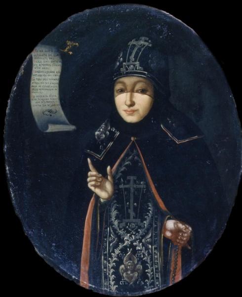 Портрет схиномонахини Нектарии (княгини Н.Б. Долгорукой).  1770-е. Неизвестный художник II половины XVIII в.