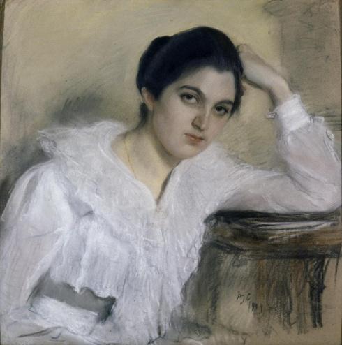 Серов В.А. (1865—1911). Портрет М.П. Хрущевой. 1903