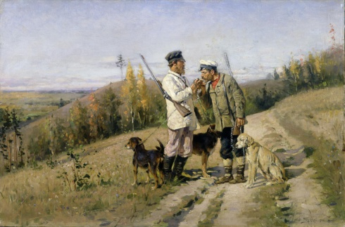Маковский В.Е. (1846—1920). Охотники. 1906