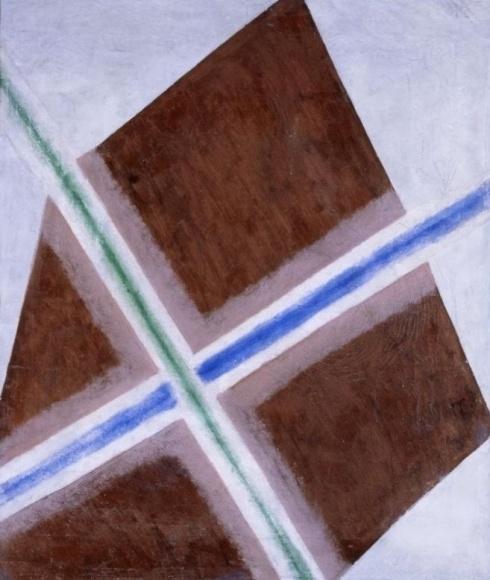 Розанова О. В. (1886-1918). Композиция. Распыление цвета.  1917