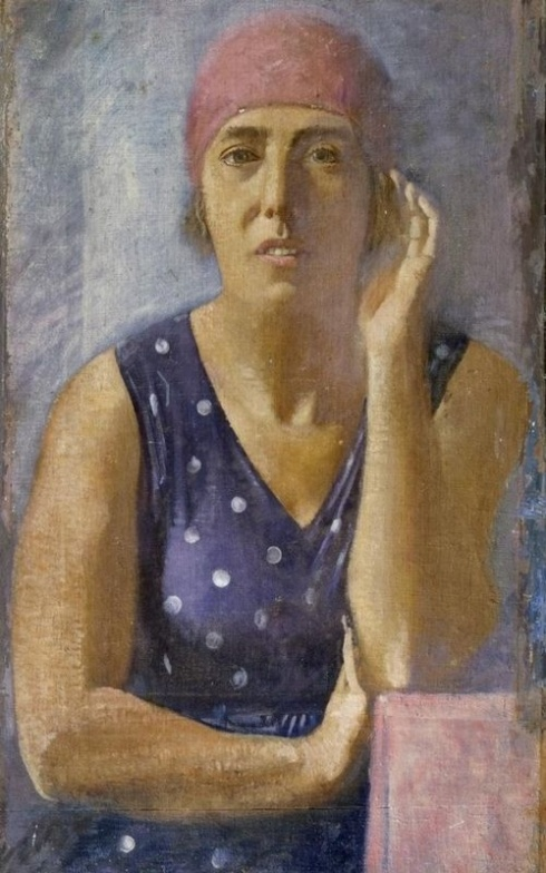 Самохвалов А. Н. (1894 – 1971). Портрет Е. П. Самохваловой.  1930