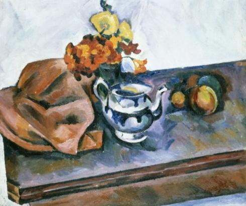 Куприн А. В. (1880 – 1960). Натюрморт с чайником и искусственными цветами. Начало 1920-х