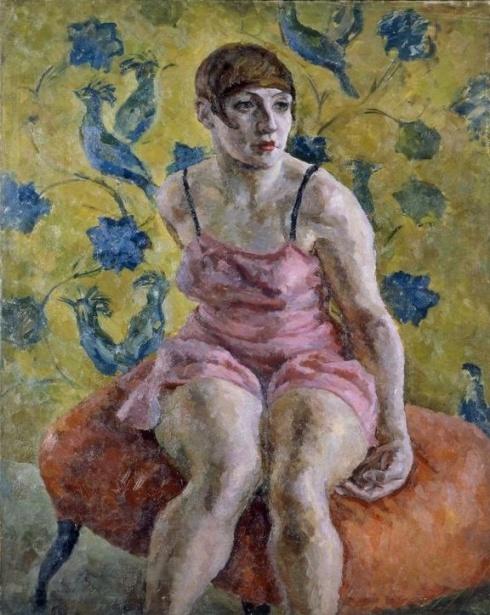 Осмеркин А. А. (1892– 1953). Женский портрет в розовой рубашке. 1923