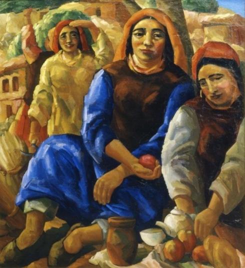 Волков А.Н. (1886-1957). Полдень в Шахимардане.  1935