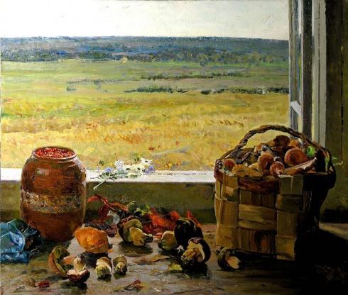 Ширяев Д.К. (1913-2000). Август. Натюрморт. 1962