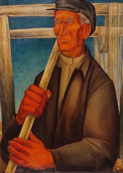 Видякин В.И. Род. 1948. Портрет рыбака Федоса. 1974