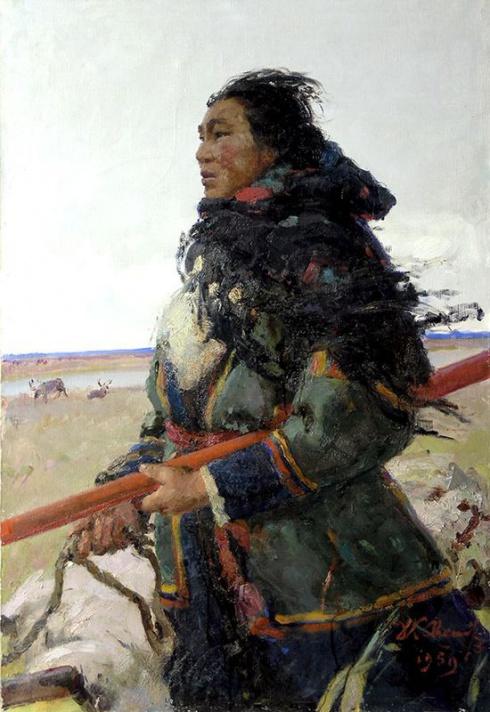 Свешников Д.К. (1912-1997). Портрет Таисии Тайбарей. 1959
