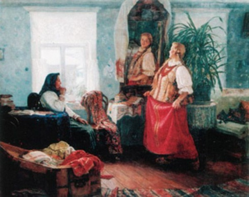 Баранчеев М.С. (1920-1996). Бабушкины наряды. 1957