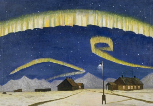 Вылка И.К. (1886–1960). Северное сияние. 1950-е