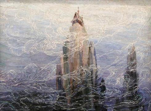 Писахов С.Г. (1879–1960). В подводном мире церквушка на скале. Из серии «Сны». Этюд. 1912