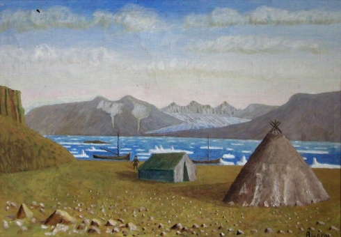 Вылка И.К. (1886–1960). Незнаемый залив. Льды в Карском море. 1959