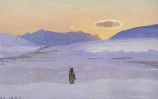 Борисов А.А. (1866–1934). На промысле за оленем. 1901