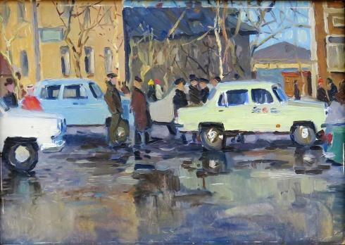 Первое такси в Архангельске. 1963
