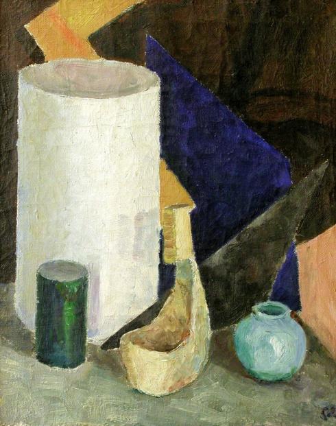 Натюрморт с голубой вазочкой. 1932