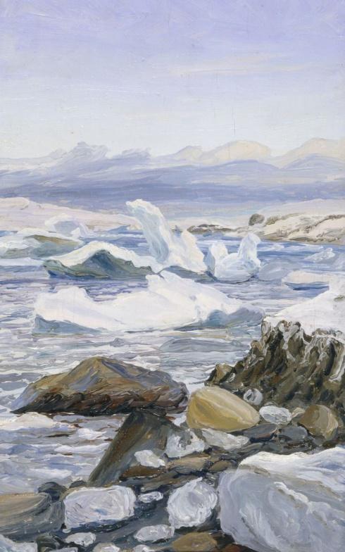 Льды у Каменистого берега. 1936
