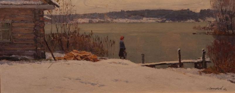 На озере. Первый снег. 1960