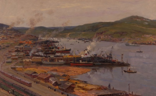 Мурманский порт.  1959