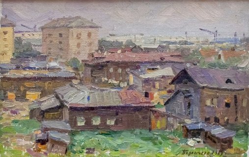 Архангельск. Старые дома. 1969