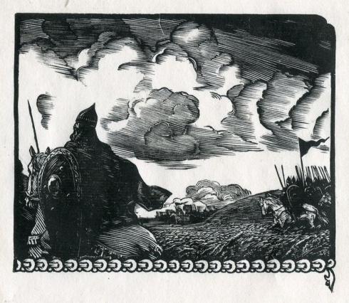 «Перед битвой». Разворот. Правая сторона. 1956