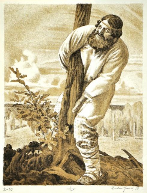 «Исцеление Ильи Муромца». 1950