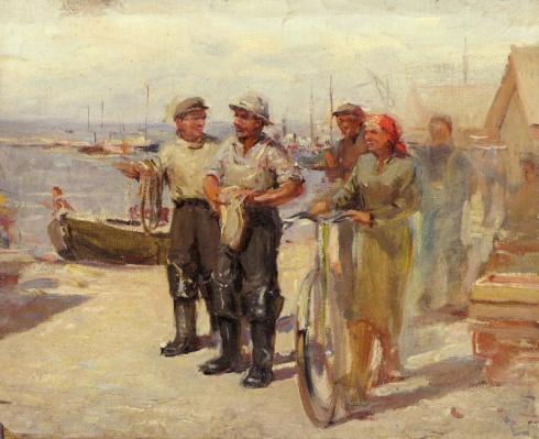 В рыболовецком колхозе. 1950-е