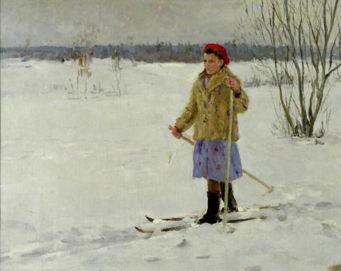 Лыжница. Конец 1950-х - начало 1960-х