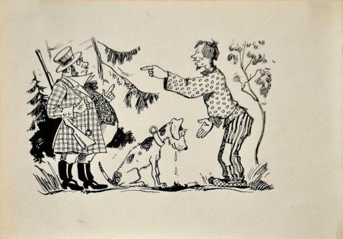 Илл. к сказке «Барин и мужик». 1930-е