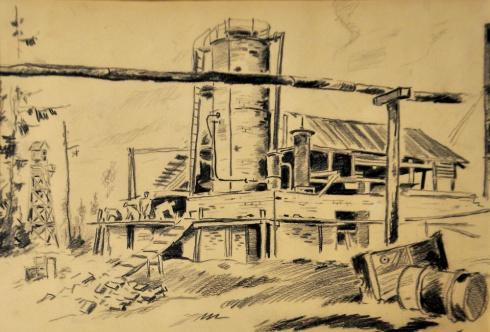 Нефтеперегонная установка на Чибью. 1935
