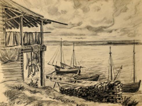 На берегу реки Мезени. 1930-е
