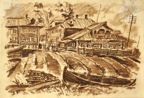 Берег реки Мезени. 1930-е