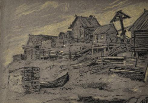Рыбацкое село. 1930-е