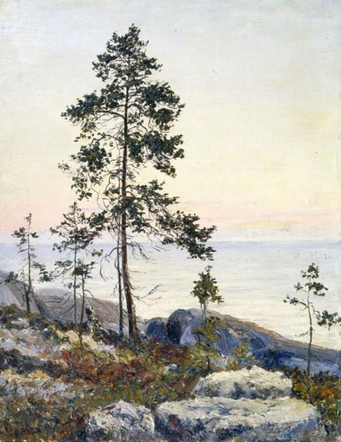 Берег Белого моря. Восход солнца. 1909