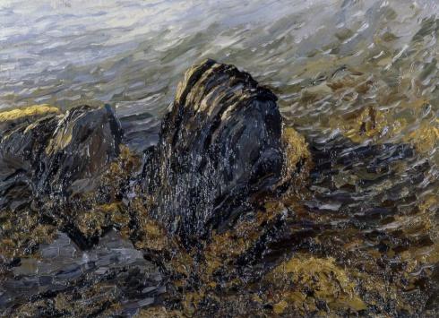 Прибрежные скалы. (Берег Новой Земли). Этюд