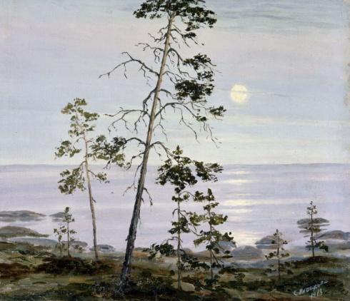 Сосна. Лунная ночь. 1918