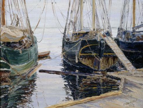 Парусники у Рыбной пристани. 1912