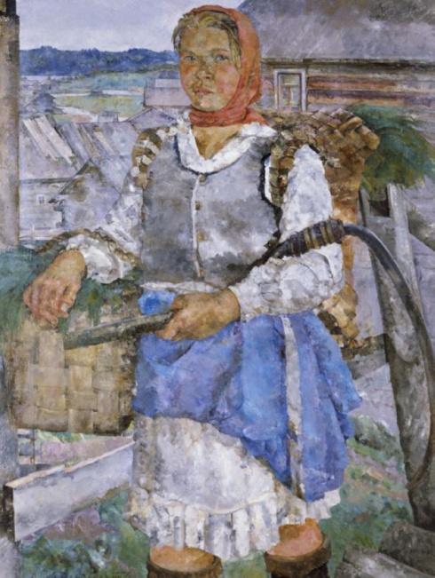 С покоса. Беломорье. Портрет Веры Самсоновой. 1934