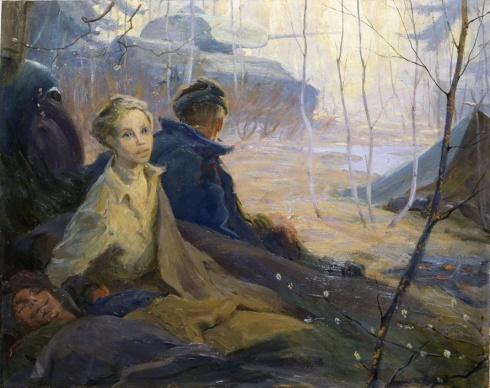 Этюд к картине «Дыхание весны» 1955
