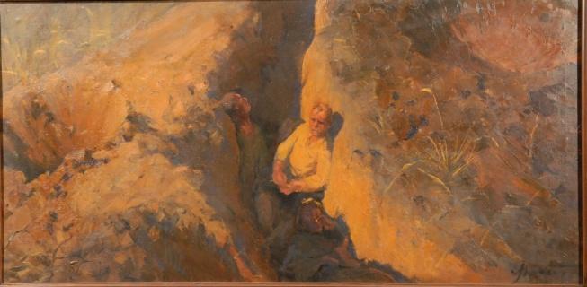 Этюд к картине «Земля опаленная». 1957