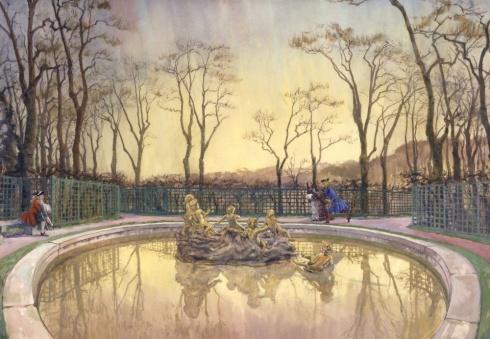 Версаль. У фонтана Бахуса. 1921