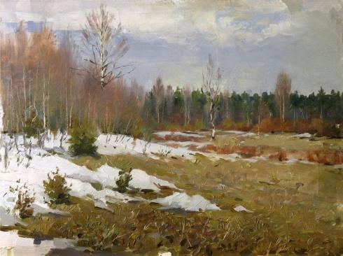 Последний снег. 1955
