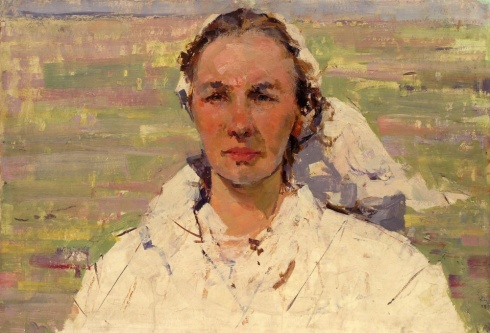 Портрет телятницы совхоза «Каргопольский». 1966