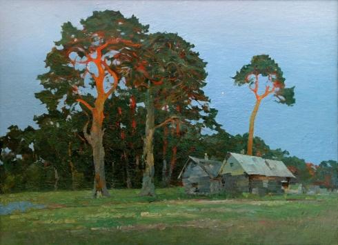 Деревня Красное. Закат. 1987
