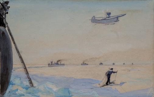В Белом море. Проводка каравана. 1944