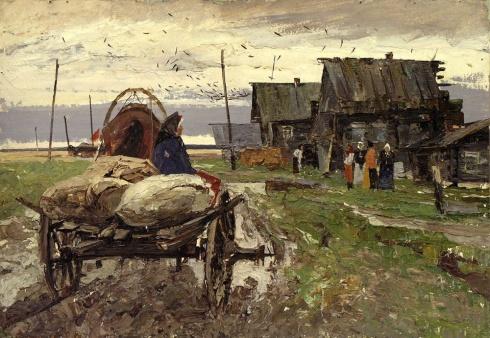 В освобождённый Ленинград (этюд). 1970-е
