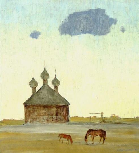 Спасо-Преображенская церковь в Ижме. 1983