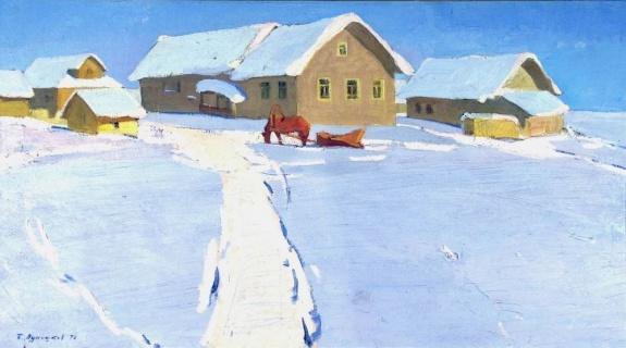Зимний пейзаж. 1978