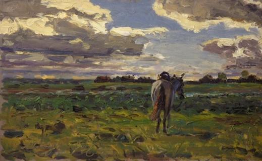 В полях. 1946